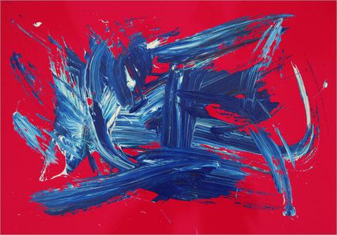 Barito 0116, Fingerfarbe auf Pappe, 48 x 68 cm
