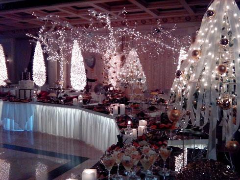 Allestimento Matrimonio invernale natalizio presso Villa Carafa