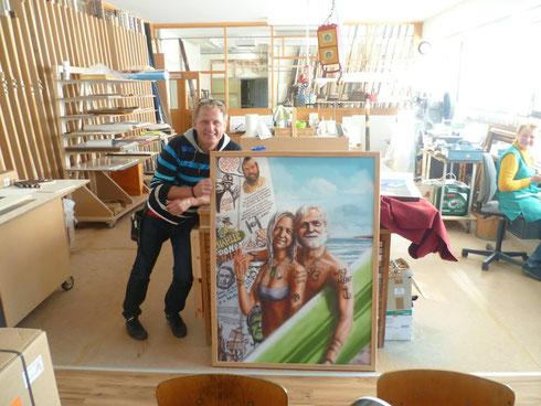 """Peter Armbruster von der Kunstmanufaktur Haffke & Original-Bild """"Forever Young"""""""