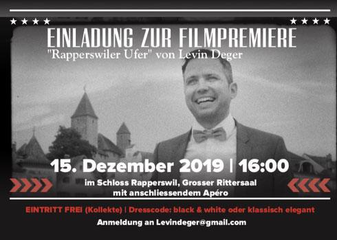 Levin Rapperswiler Ufer Première Premiere Schloss Rapperswil Sänger Gitarrist Alleinunterhalter Komponist Levin Deger
