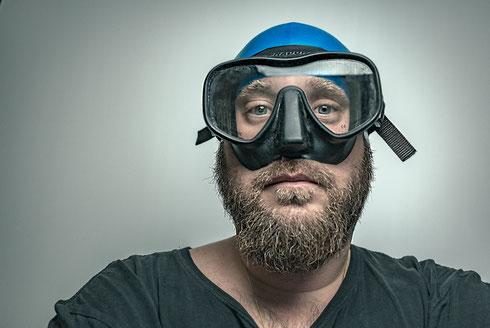 Taucherbrille, Bart, Blau, Fun, Funtime, baden, badekappe, brille, schorcheln, tauchermaske, schnorchler, schwimmen, schwimmflossen, swim