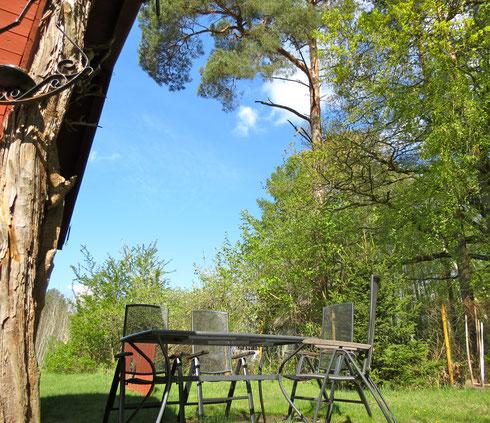 Blockhaus am Wald, Hütte in Alleinlage, am See
