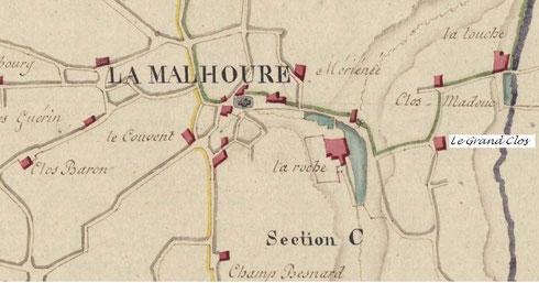 Cadastre napoléonien de La Malhoure, 1808
