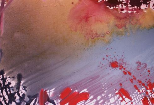 copyright Nathalie Arun, FarbFluss, Acryl-Gouache 2012, b 1 m x h 80 cm