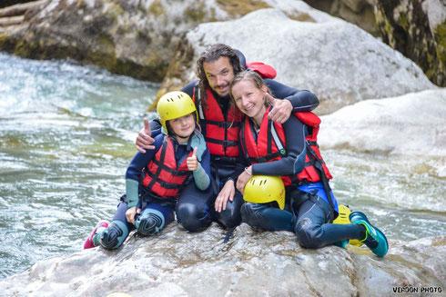 activité aquatique verdon enfants, activité aquatique verdon familles, canyoning verdon familles, aqua rando verdon, randonnée aquatique verdon