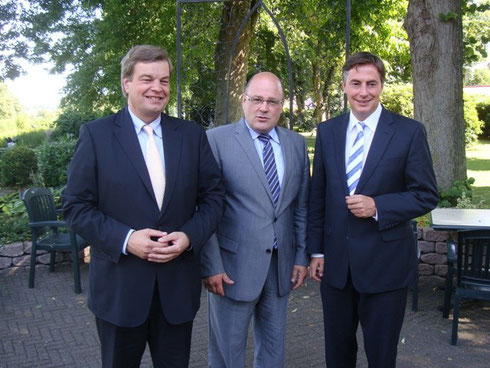 PSts Enak Ferlemann, PSts Steffen Kampeter, CDU-Landesvorsitzender David McAllister