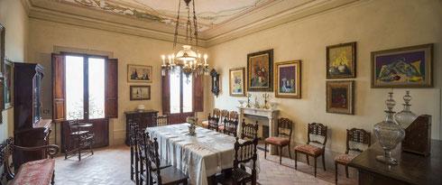 Sala da pranzo Guido Peyron - Foto di Duccio Nacci,2016 © FAI - Fondo Ambiente Italiano