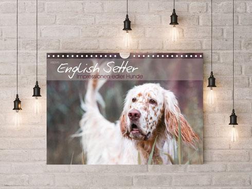 VISOVIO English Setter - Impressionen edler Hunde >>> Erhältlich z.B. auf Buch24, Thalia, Amazon, bestellbar bei jedem regionalen Buchhändler || english setter geschenkidee setterkalender visovio  fineart