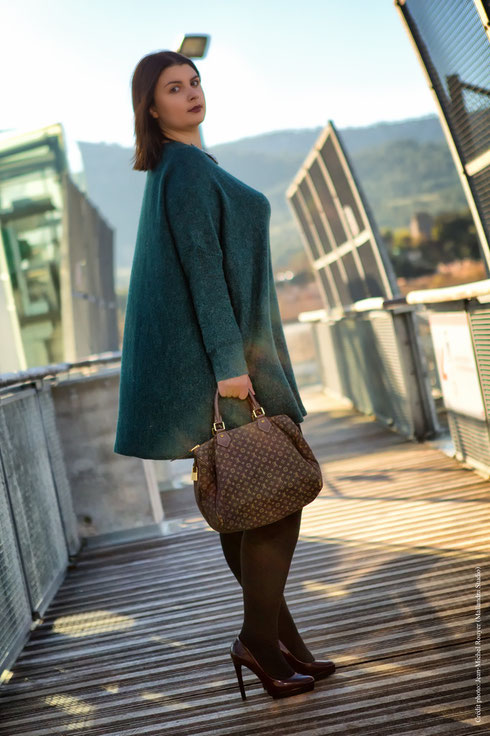 CHIC WITH CURVES CHALLENGE FRENCH CURVES ROBE VERTE ESCARPINS ZARA H&M SAC LOUIS VUITTON