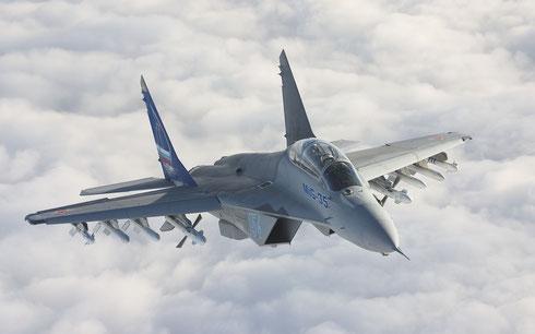 MiG-35 si tratta della versione da esportazione del MiG-29M/M2