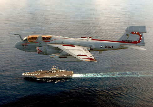 "EA-6B Prowler dell' Electronic Attack Squadron 132 ""Scorpions"" / © USN"