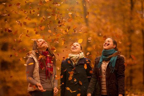 Wir machen Bilder. Wir leben Fotografie. Wir, Joanna, Leonie und Emely.