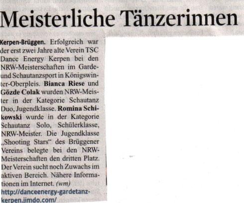Kölner Stadtanzeiger vom 24.04.2014