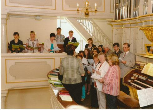 Kirchenchor Waldkirchen zur Konfirmation 2012, Foto: Gunter Dörfel, Lengenfeld