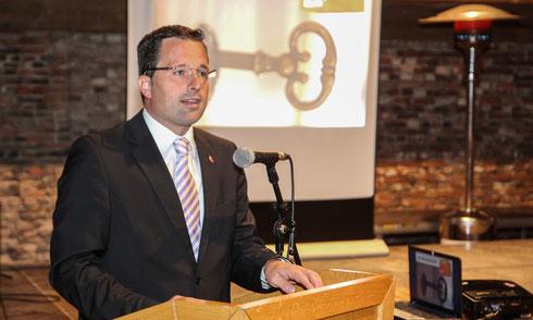 Kai Seefried hielt eindrucksvoll die Festrede zur Freisprechung der Tischler 2014