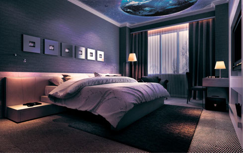 3D Spanndecke Schlafzimmer