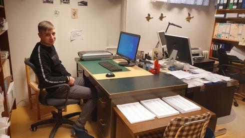 Lorenz an seinem Arbeitsplatz (Foto: Ivan Sovic)