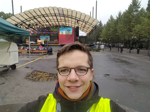 Marius Retka bei seinem Einsatz beim Franziskustag in Stockholm