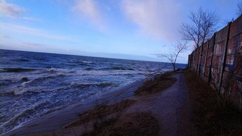 Blick auf die Ostsee in der Nähe von Riga