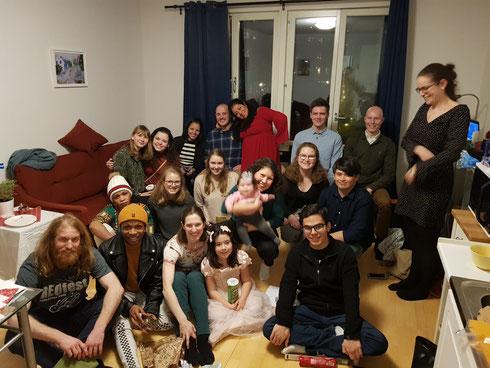 Weihnachtsfeier unserer Studentengruppe