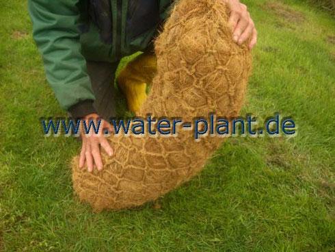 Kokos - Pflanzrolle für den Gartenteich