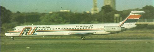 MD-81 beim Startlauf auf dem Flughafen Buenos Aires Aeroparque/Courtesy: Austral Lineas Aeréas