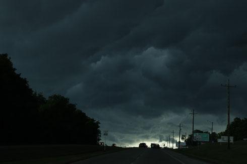 Sturm auf der Route 66, Oklahoma