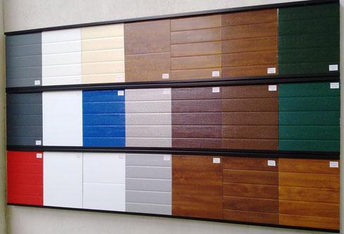 muestrario de paneles