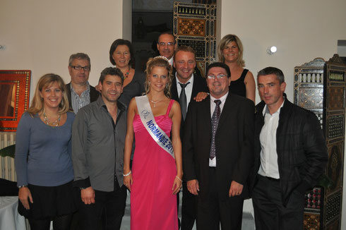 Le Bureau de l'UCAC en compagnie de Miss Normandie.