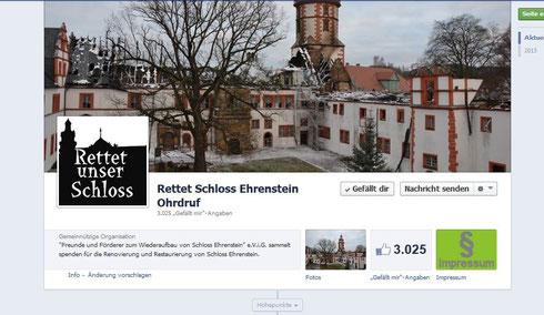 Bild: facebook.de/rettetunserschloss