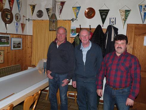 v. l. Kasberger Martin, Pfeffer Georg, Schmid Karl-Heinz