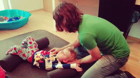 Daniel Lerch-Holz bei einer NeuroScanBalance Lesson mit Jannik Middelbeck - Seitneigung