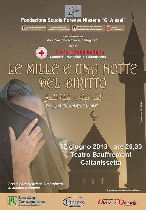 Le mille e una notte del diritto -  Teatro Bauffremont - Caltanissetta 16 giugno 2013
