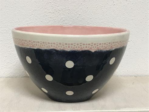 Müslischale zitronengold - Keramik bemalen