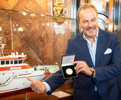 Bootschafter Till Demtroeder beim Senatsempfang für den neuen SRK Hamburg_August_2018_Foto-DGzRS-Steven_Keller