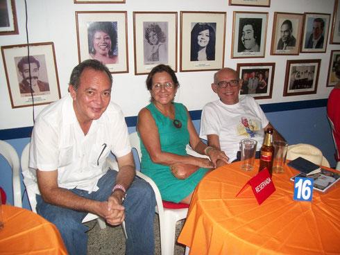 Sergio Santana Archbold, acompañante y Rafael Bassi Labarrera, agosto 6 de 2015.