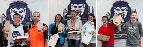 SiegerIn der 3 Kategorien am Luzern Open 2013