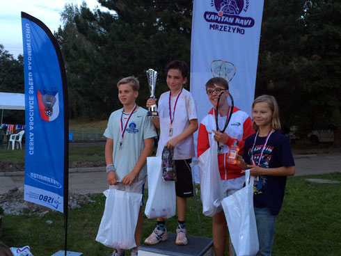 Podest U14-Junioren Tschechien Open Prag 2014