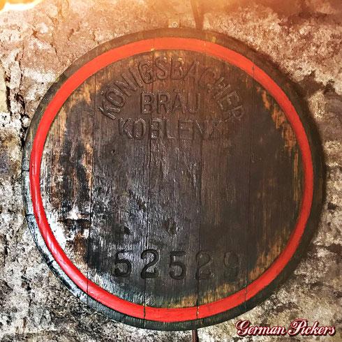 Königsbacher Bräu / Brauerei A.G.  Original Holz Fassboden  um 1925