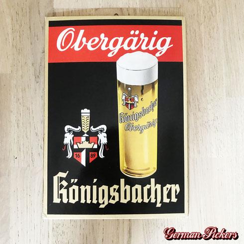 Königsbacher Obergärig - Pappschild  Deutschland um 1950