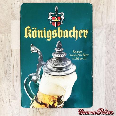 """Königsbacher Brauerei Koblenz  Pappschild  """"Besser kann ein Bier nicht sein!""""  Pappschild"""