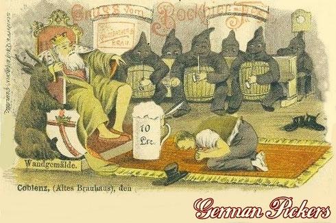 Königsbacher Bräu / Brauerei Ansichtskarte  Gruss vom Bockbierfest  um 1890  Coblenz - altes Brauhaus