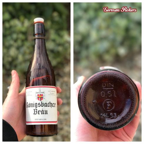 Historische / Antike Bierflasche:  Königsbacher Brauerei A.G. / Bräu  Koblenz um 1950