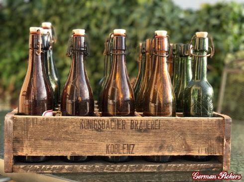Alte Bierkiste der Königsbacher Brauerei Koblenz  um 1930