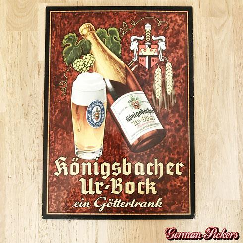Königsbacher Urbock - ein Göttertrank - Pappschild  Deutschland um 1950