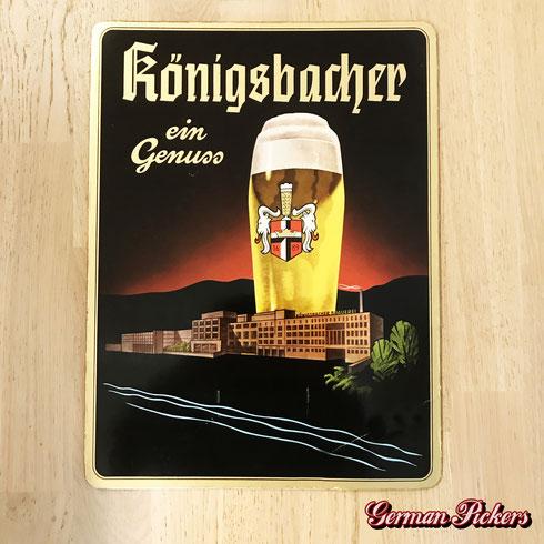 Königsbacher ein Genuss - Pappschild  Koblenz um 1950  50 × 33 cm