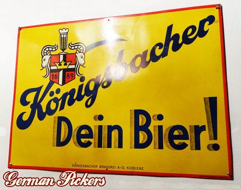 Königsbacher Dein Bier - Blechschild  Deutschland um 1930  40 x 60 cm