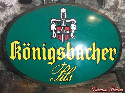 Königsbacher Brauerei Schild  Kunststoffschild  um 1980  80 x 50 cm