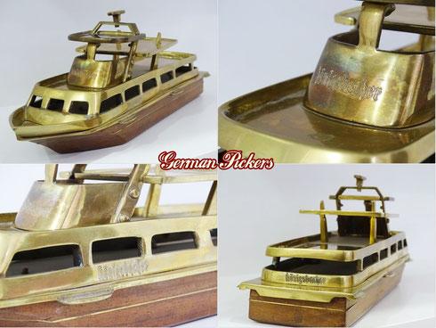 Königsbacher Personenschiff Modell  Streng limitierte Auflage  34 cm lang  Handarbeit aus Messing und Holz