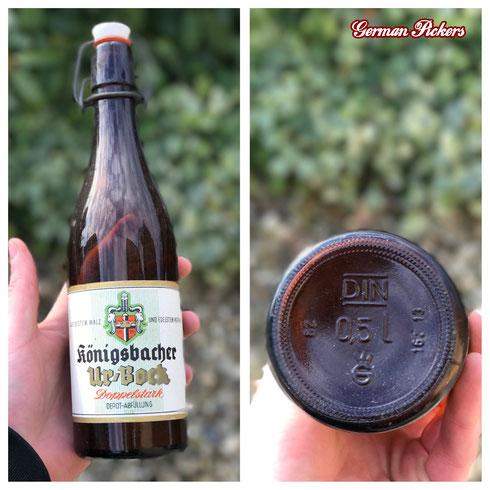 Historische / Antike Bierflasche:  Königsbacher Brauerei A.G. / Bräu  Koblenz um 1950 Ur Bock